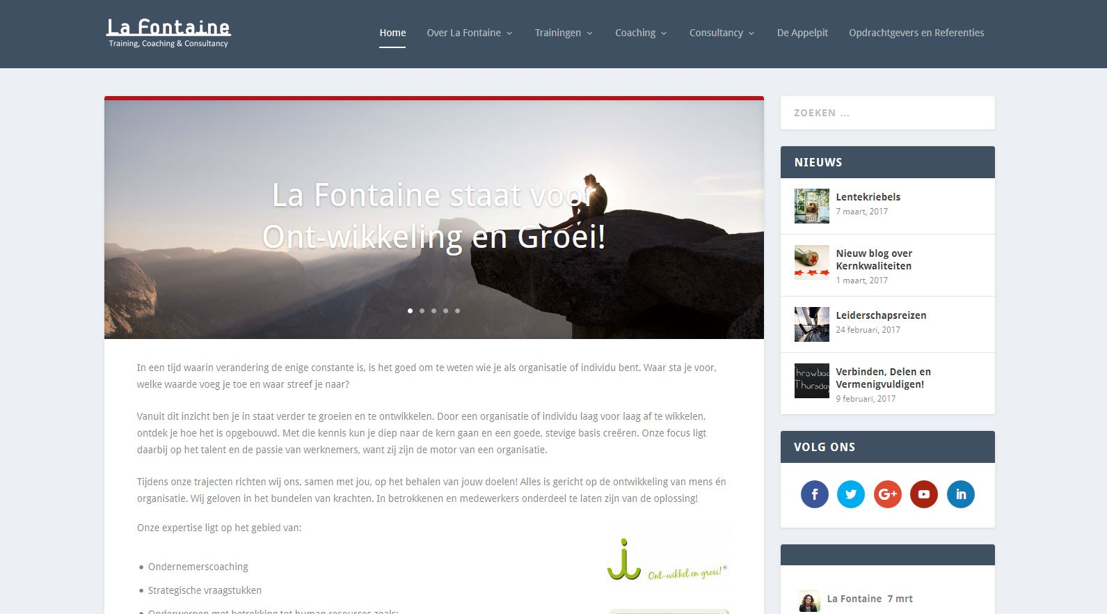 WordPress - La Fontaine - training, coaching & consultancy