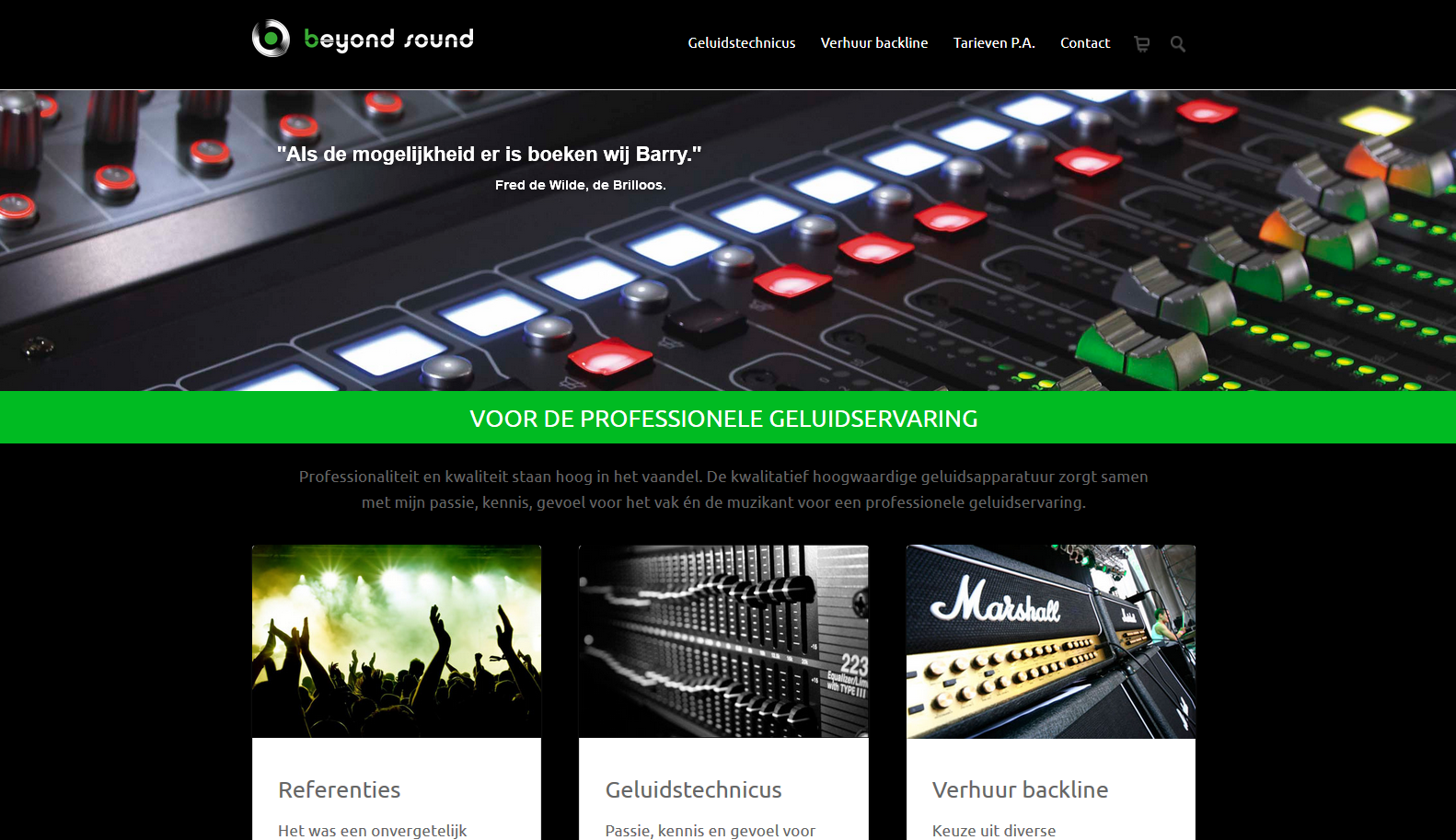 WordPress - Beyond Sound - Geluidtechnicus - Barry van Jole