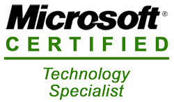 RowOne IT Services is Microsoft Certified Technology Specialist